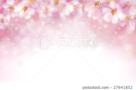 Vector floral pink bokeh background. 27641852