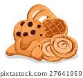 Bakery pastry isolated cartoon illustration set 27641959