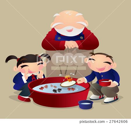 Goldfish scooping 27642606