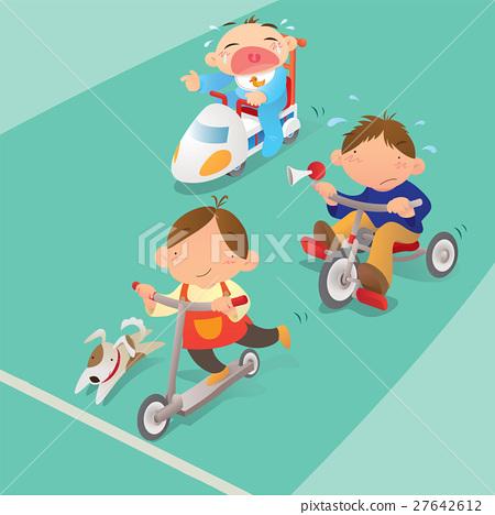 Racing game among boys 27642612