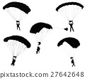 skydivers silhouettes collection 27642648