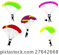 skydivers illustration 27642668