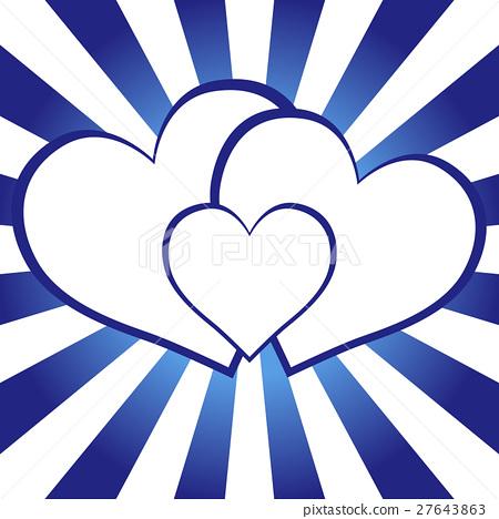 Background Material Wallpaper Heart Pattern Stock Illustration 27643863 Pixta