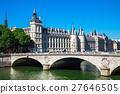 Bridge of Change and Conciergerie Castle. Paris 27646505