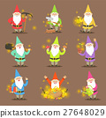 Classic Garden Gnomes In Colorful Outfits Set Of 27648029