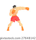 Muscly Man Boxing Martial Arts Fighter, Fighting 27648142