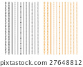 Metal Chainlets with Variety Chain Link Vector Set 27648812