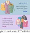 Outerwear Women s Look Web Banner. Apparel Vector 27648818