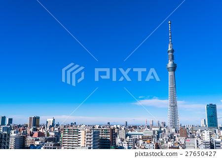 【도쿄】 스카이 트리와 주택가 27650427