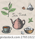 Vector collection of hand drawn tea illustration 27651022