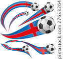iceland flag with soccer ball. 27653264