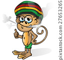 jamaican monkey cartoon isolated  27653265