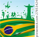 brazil background with flag and symbol 27653424