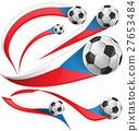 Czech Republic flag  set with soccer ball 27653484