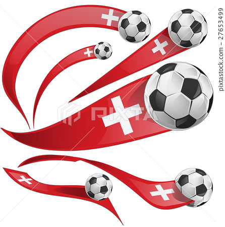 swiss flag set with soccer ball. 27653499