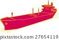 船 集裝箱船 畫線 27654119