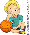 Kid Boy Basketball Tired 27655277