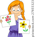 Kid Girl Flower Craft 27655323