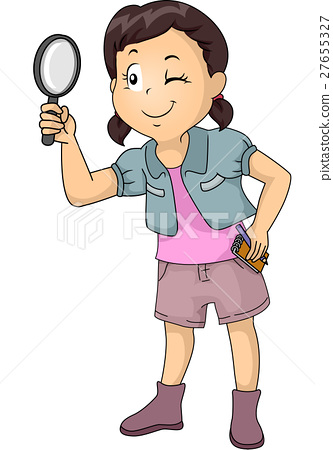 Kid Girl Magnifying Glass Notes 27655327