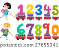 Stickman Kids Numbers Books Cart 27655341