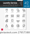 Laundry service elements vector icons set. 27657388