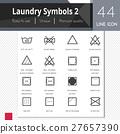 Laundry symbols 2 elements vector icons set. 27657390