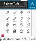 Engineer tools vector icons set, 27657540