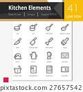 Kitchen elements vector icons set. 27657542