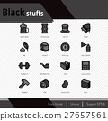 Black stuffs vector icons set. 27657561