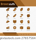 Brown stuffs vector icons set on white background. 27657564