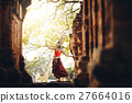 Apsara or angel dancing at castle public Thailand 27664016