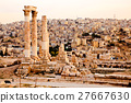 Temple of hercules on the citadel in amman, jordan 27667630