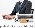 사업가, 배송, 물류, 영업 27668143