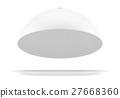 White opened cloche 27668360