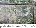 Close-up of dolmen in the forest 27668527