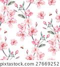 水彩畫 水彩 花朵 27669252
