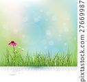 Vector illustration abstract green grass. 27669987