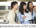 女性 旅行者 旅程 27671288