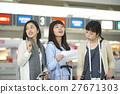 女性 旅行者 旅程 27671303