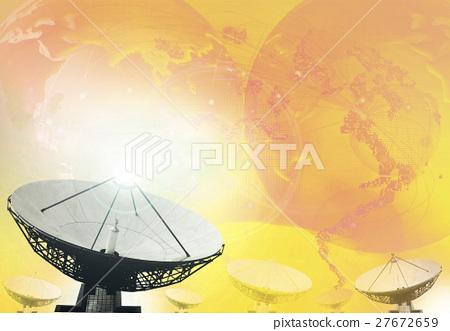 satellite dish broadcasting technology background 27672659
