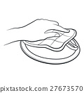 hand, vector, outline 27673570