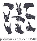 sign, hand, finger 27673580