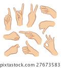 sign, hand, finger 27673583