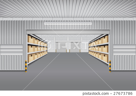 Warehouse Vector Background 27673786