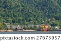 Miyajima island and Floating Torii gate in Japan. 27673957