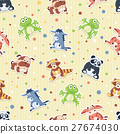 cartoon pattern animal 27674030