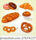 Multigrain bread and bakery cake, croissant 27674137