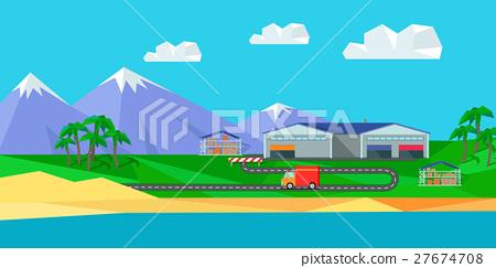 Warehouse on Natural Landscape 27674708