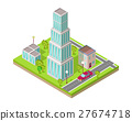 isometric, city, street 27674718