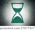 Time concept: Hourglass on Digital Data Paper 27677927